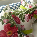 Vintage 1950's Floral Cushions