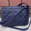 Quilted Leather Cross Body Strap Handbag