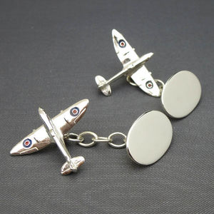 Spitfire Cufflinks Solid Silver - men's jewellery