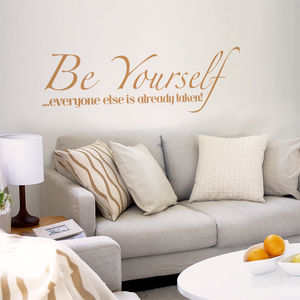 Be Yourself Wall Sticker - home decorating