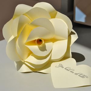 Personalised Say It With A Rose Paper Bloom - seasonal cards