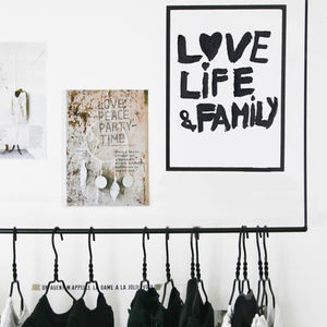 Love, Life And Family Print - children's pictures & paintings