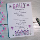 Personalised Childrens Fairy Castle Party Invitations