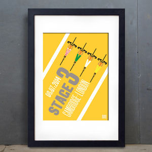 Yorkshire Tour Stage Three Graphic Print