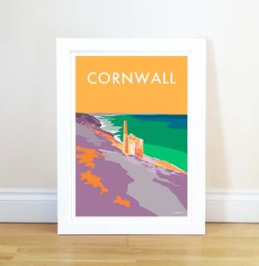 Cornwall Tin Mine Vintage Style Seaside Poster
