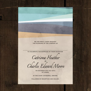 St Ives Bay Wedding Invitation Stationery - invitations