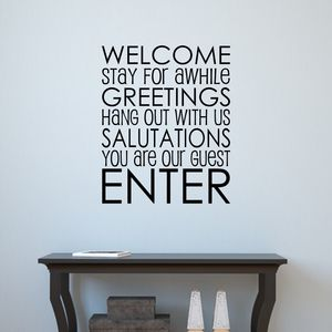 Welcome Guests Wall Sticker - wall stickers