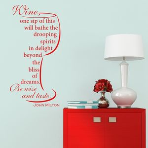 Wine Quote Wall Sticker - wall stickers