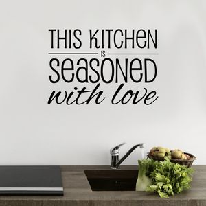 Seasoned With Love Kitchen Wall Sticker - wall stickers
