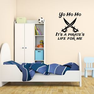 Pirate's Life For Me Wall Sticker - decorative accessories