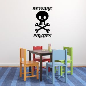 Beware Pirates Wall Sticker