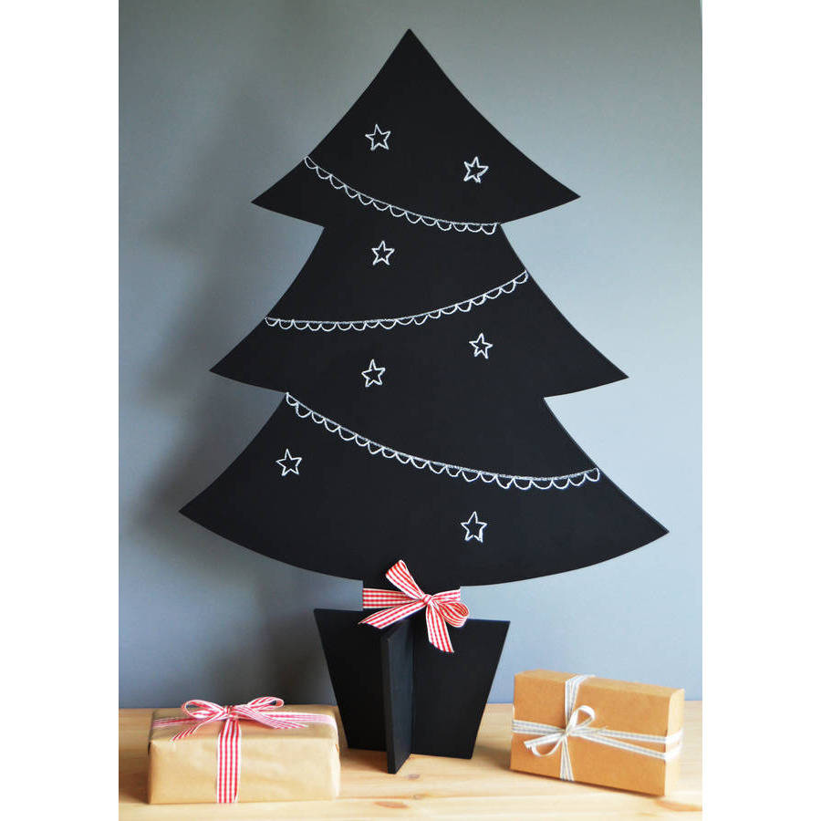 freestanding chalkboard christmas tree by altered chic ...