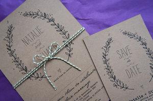 Sweet Leaves Wedding Stationery Range