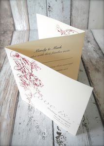 In Bloom Z Fold Wedding Invitations