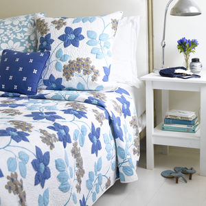 Cornelia Blue Bedspread - bedspreads & quilts