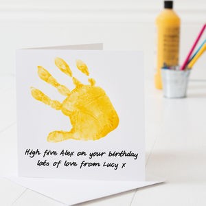 Personalised Hand Print Birthday Card - birthday cards