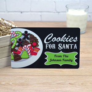 Personalised Cookies For Santa Christmas Sign