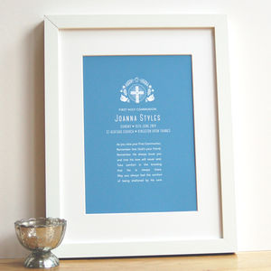 Personalised First Holy Communion Art Print