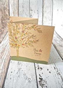 In The Forest Z Fold Wedding Invitation