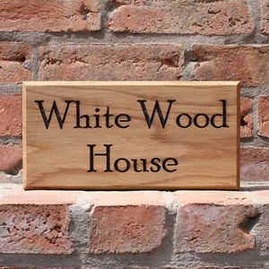 Personalised Bespoke Handmade Door Number House Sign - decorative accessories