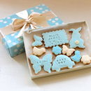 New Baby Boy Cookie Gift Set