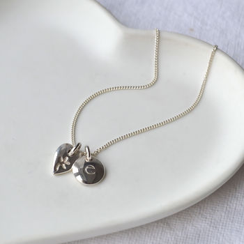 Personalised Girls Silver Heart Necklace