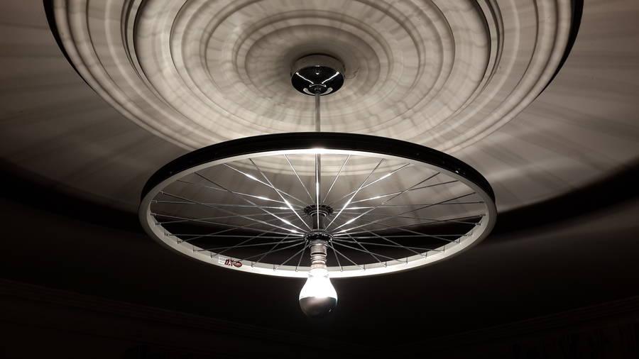 Bike Wheel Ceiling Light By Vyconic Notonthehighstreet Com