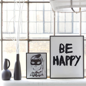 Be Happy Print - children's pictures & paintings