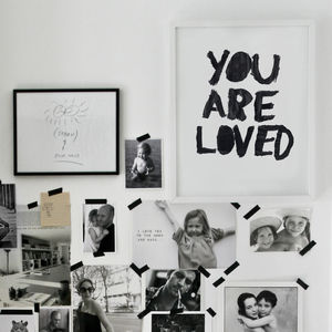 You Are Loved Print - children's pictures & paintings