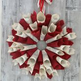 Festive Storyteller Paper Wreath - christmas decorations