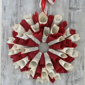 Festive Storyteller Paper Wreath - outdoor decorations
