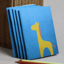 Blue Giraffe Small Notebook