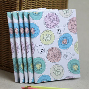 Birds And Cupcakes Small Notebook - stationery