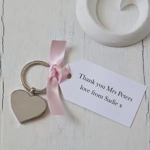 Heart Keyring Teacher Gift And Personalised Tag