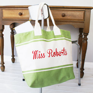 Personalised Colourful Teacher Shopper Bag - summer sale