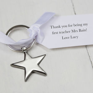 Star Keyring Teacher Gift And Personalised Tag - mens