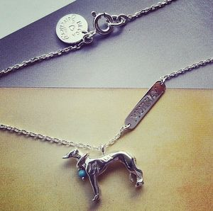 Whippet Pendant - necklaces & pendants