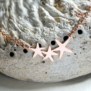 Rose Gold Bright Stars Necklace