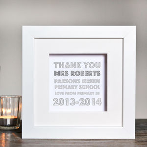 Personalised Thank You Teacher Box Frame - baby's room