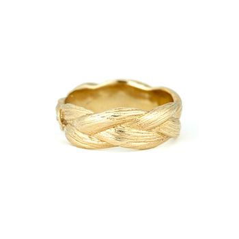 18k Gold Plated Sterling Silver Braid Ring