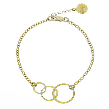 Gold Love, Life And Laughter Bracelet