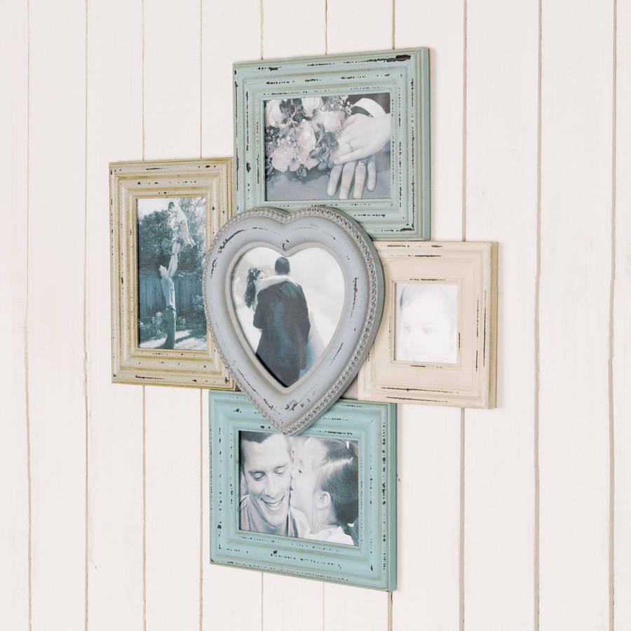 distressed vintage multi photo frame by dibor | notonthehighstreet.com