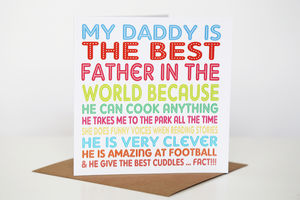 Personalised Best In The World Card - valentine's cards
