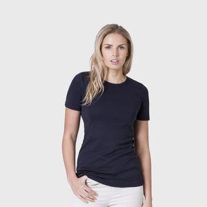 Women's Organic Cotton Round Neck Navy T Shirt - tops & t-shirts
