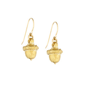 All Dreams Start Small Acorn Earrings In Gold