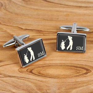 Personalised Golf Cufflinks - women's jewellery