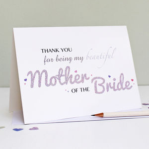 Mother Of The Bride Thank You Card - thank you cards