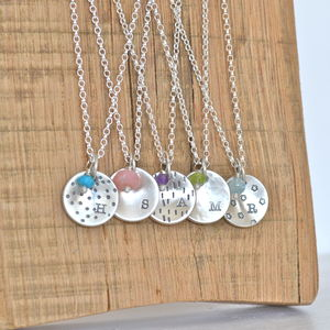 Personalised Silver Bridesmaids Necklaces