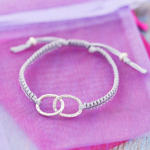 Personalised Cord Infinity Bracelet - women's jewellery