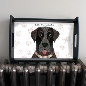 Personalised Labrador Serving Tray - trays